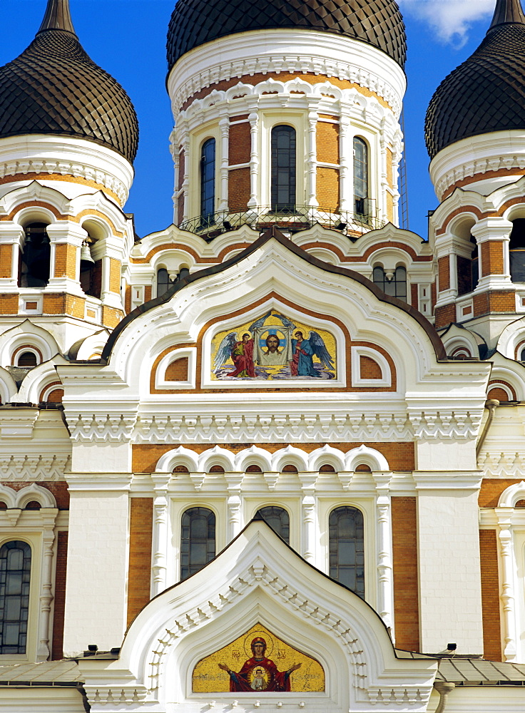 The Alexander Nevsky Cathedral, the Orthodox cathedral built at the end of the 19th century, a symbol of Russian power, Old Town, Tallinn, Estonia