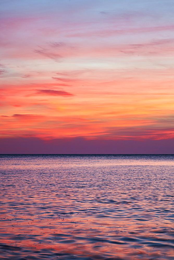 Sunrise on the Mediterrannean sea, Collioure, Languedoc-Roussillon, France, Mediterranean, Europe - 627-1277