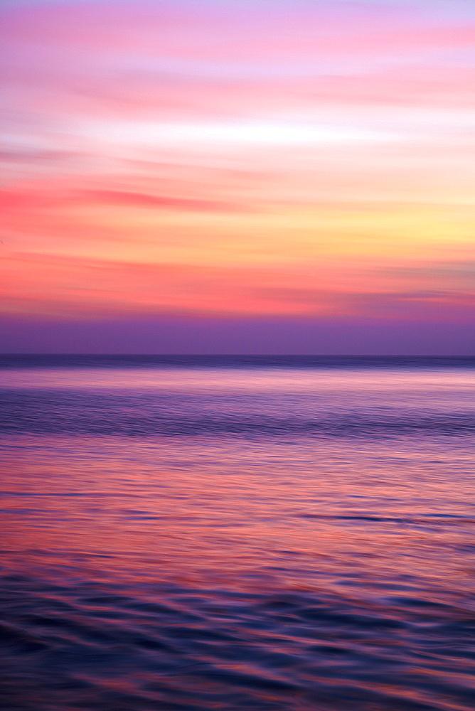 Sunrise on the Mediterrannean sea, Collioure, Languedoc-Roussillon, France, Mediterranean, Europe - 627-1278