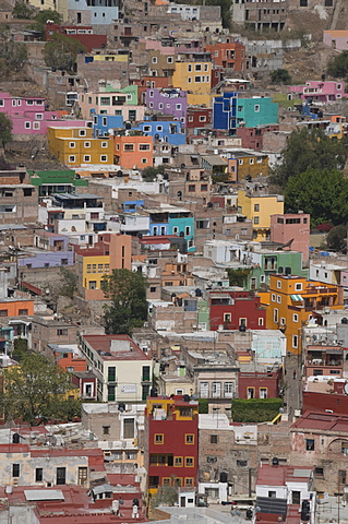 Colourful buildings, Guanajuato, Guanajuato State, Mexico, North America - 641-10845