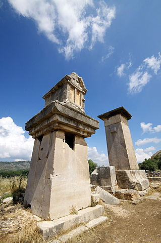 The Harpy Monument, a sarcophagus at the Lycian site of Xanthos, UNESCO World Heritage Site, Antalya Province, Anatolia, Turkey, Asia Minor, Eurasia