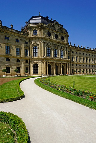 The Residence Palace, UNESCO World Heritage Site, Wurzburg, Bavaria, Germany, Europe
