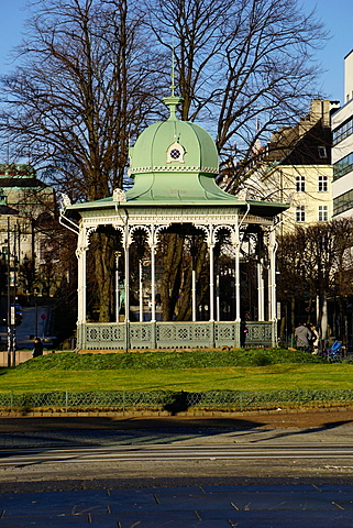 Pavilion at the Ne Olle Bulls Square, Bergen, Hordaland, Norway, Scandinavia, Europe