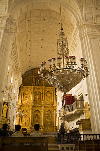Se Cathedral, thought to be Asia's biggest church, Old Goa, Goa, India