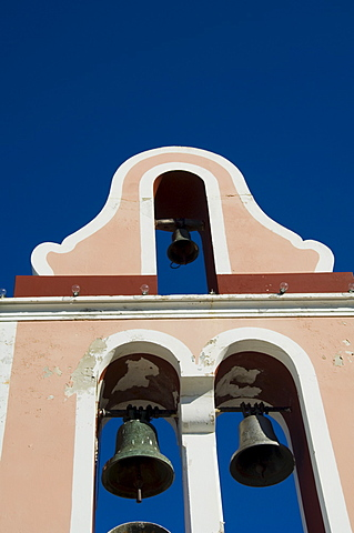 Church bell tower, Fiskardo, Kefalonia (Cephalonia), Greece, Europe