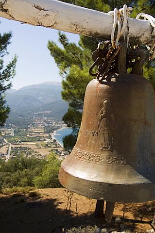 Church bell  near Sami, Kefalonia (Cephalonia), Greece, Europe