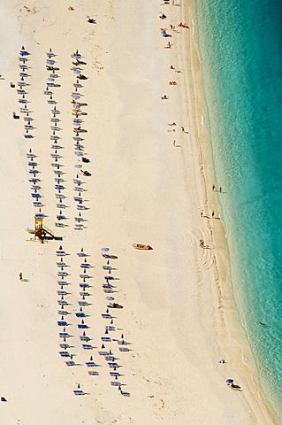 Myrtos Beach, the best beach for sand near Assos, Kefalonia (Cephalonia), Greece, Europe - 641-6574