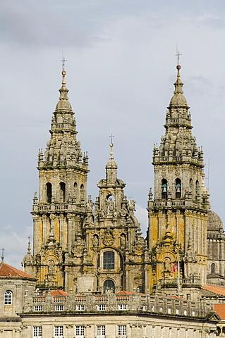 Santiago Cathedral, UNESCO World Heritage Site, Santiago de Compostela, Galicia, Spain, Europe - 641-6888