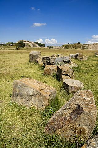 The ancient Zapotec city of Monte Alban, near Oaxaca City, Oaxaca, Mexico, North America