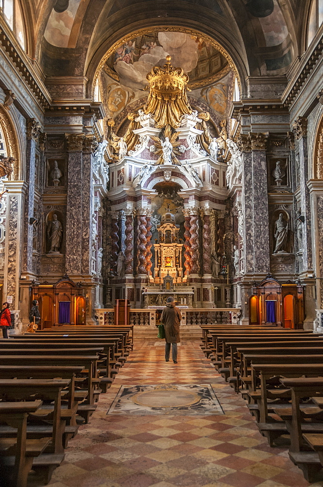Interior of St. Maria di Nazareth church, Venice, UNESCO World Heritage Site, Veneto, Italy, Europe - 665-5465