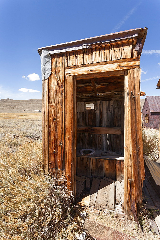 Outside toilet, Bodie State Historic Park, Bridgeport, California, United States of America, North America
