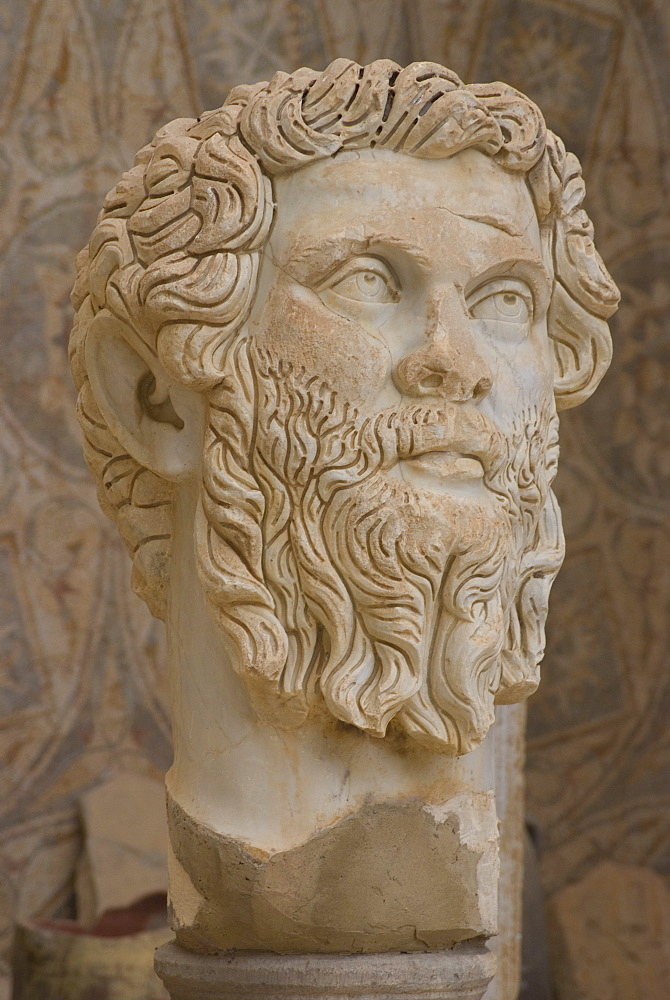 Statue of the Emperor Septimius Severus, museum at the Roman site of Djemila, Algeria, North Africa, Africa