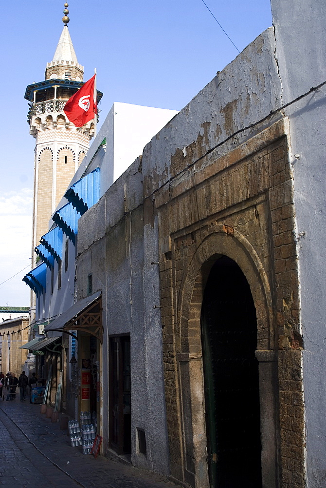 Entrance to the Medina, Tunis, Tunisia, North Africa, Africa