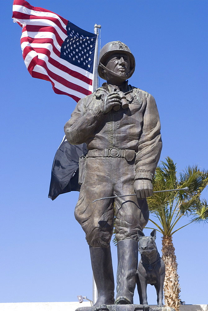 Patton Museum, Chiriaco Summit, in the desert where General Patton trained the American troops for the North Africa campaign in World War II, California, United States of America, North America