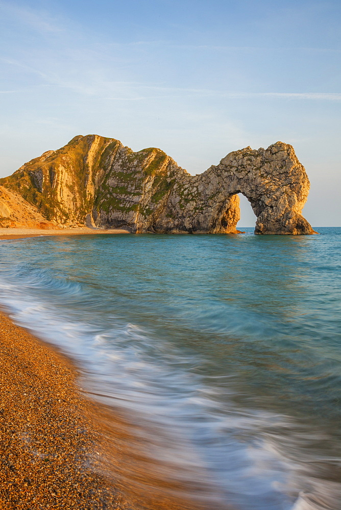 Durdle Door, Lulworth Cove, Jurassic Coast, UNESCO World Heritage Site, Dorset, England, United Kingdom, Europe