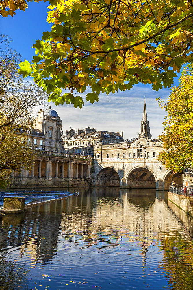 Pulteney Bridge, Bath, UNESCO World Heritage Site, Avon, Somerset, England, United Kingdom, Europe