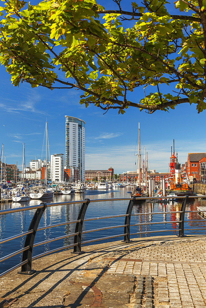 Swansea Marina, Swansea, Wales, United Kingdom, Europe - 696-816