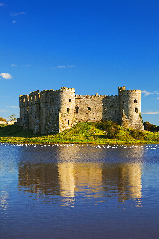 Carew Castle, Pembrokeshire, West Wales, Wales, United Kingdom, Europe - 696-845