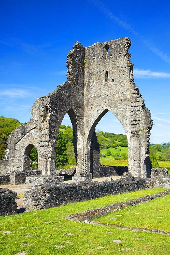 Talley Abbey, near Llandeilo, Carmarthenshire, Wales, United Kingdom, Europe - 696-851
