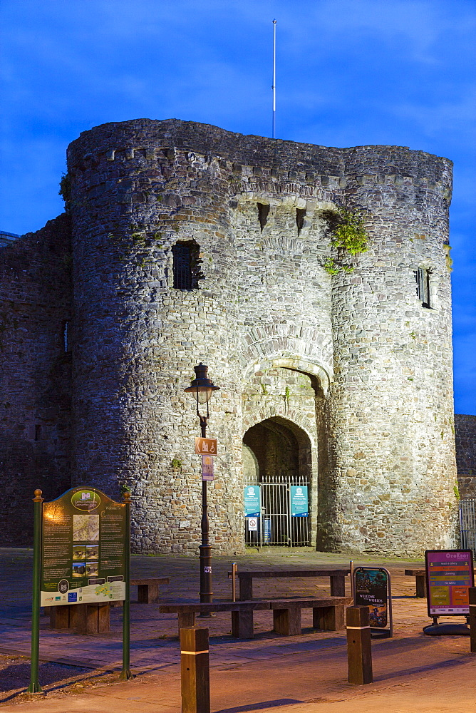 Carmarthen Castle, Carmarthenshire, Wales, UK
