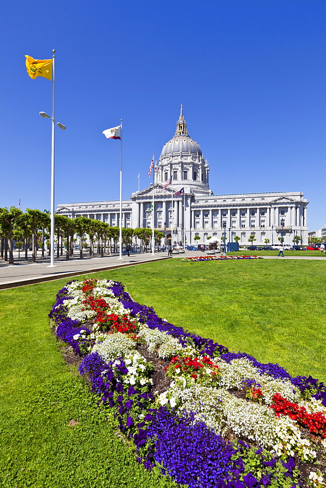 City Hall and Civic Centre, built in 1915 in the French Baroque style by architects Brown and Bakewell, San Francisco, California, United States of America, North America