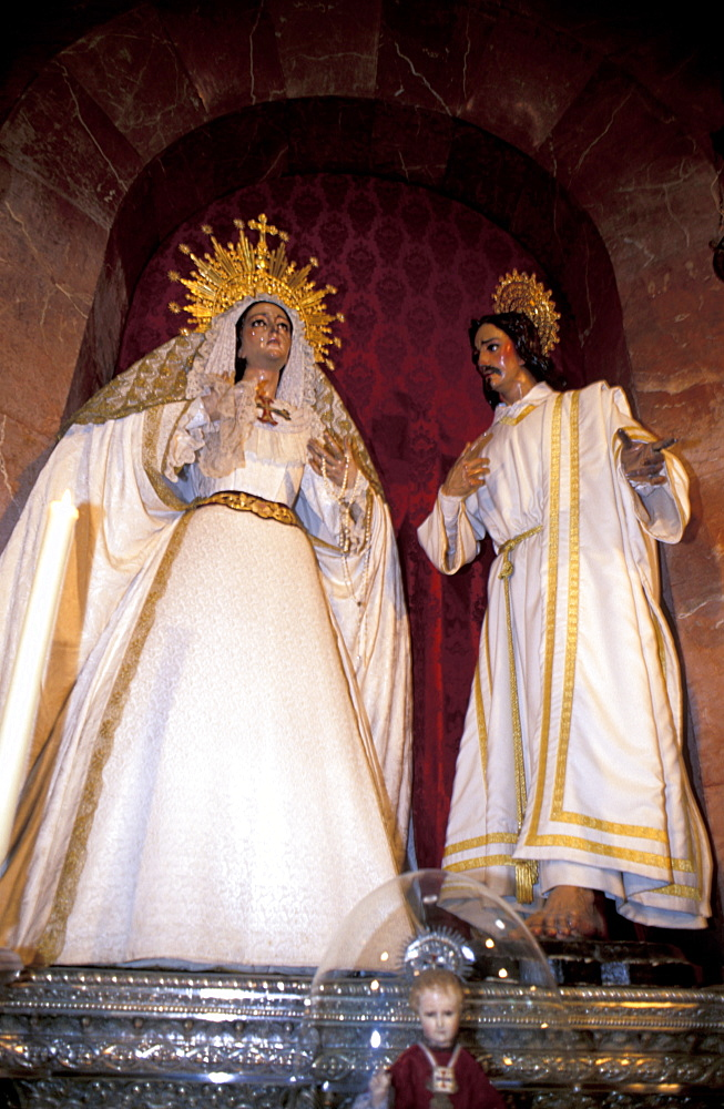 Spain, Andaloucia, Cadiz, Santa Cruz Church (Also Called The Old Cathedral), Religious Statues