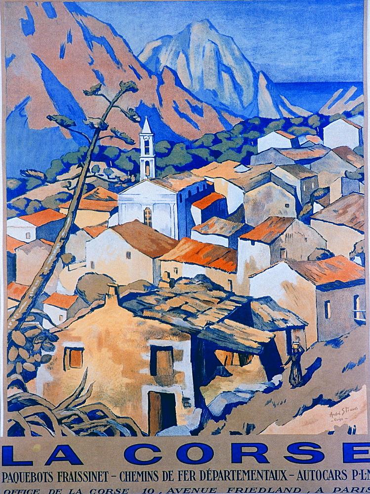 France, Corsica Island, Posters Advertising Tourisme In Corsica Circa 1920