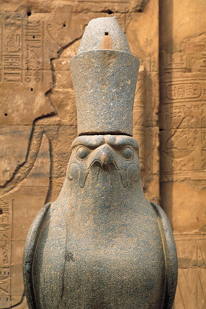 Edfu Temple, Horus Statue, Egypt, Africa