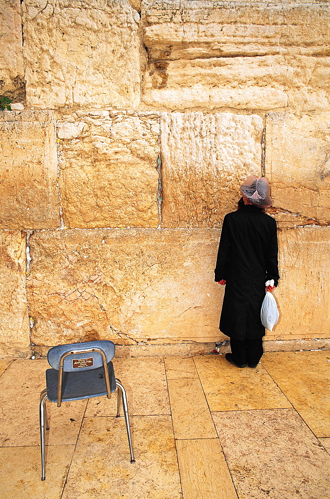 Lonesome Prayer, Wailing Wall, Jerusalem, Israel