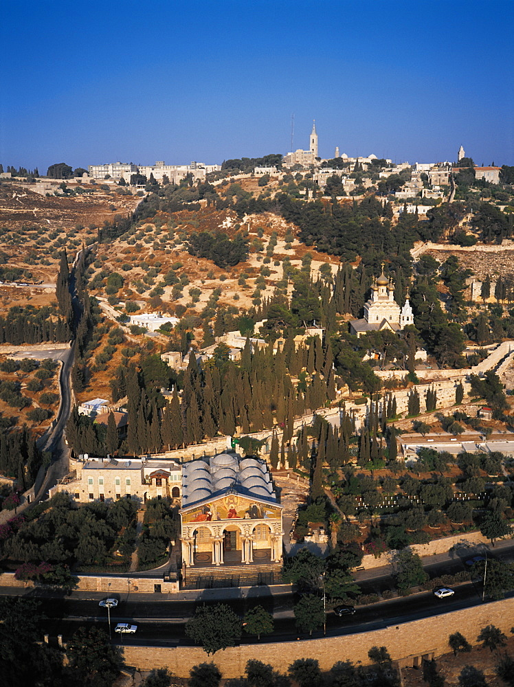 Mount Olive And Russian Church, Jerusalem, Israel