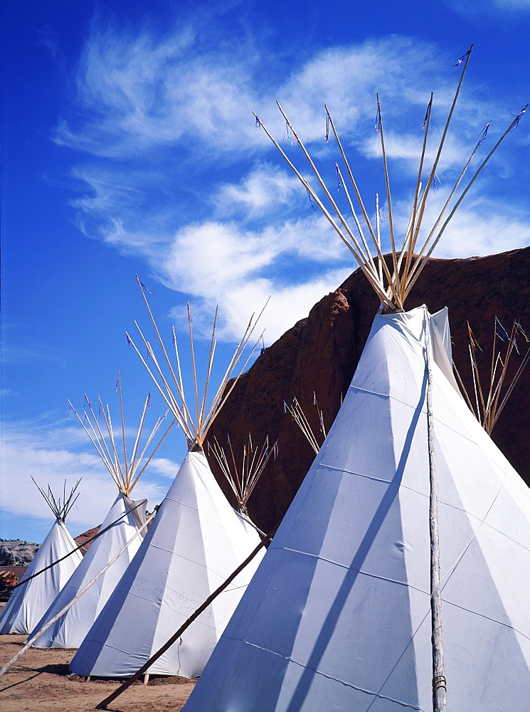 Usa, Nm, Gallup Ceremonial, Indian Tee-Pees