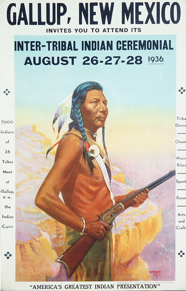 Usa, New Mexico, Gallup, Old Ceremonial Poster
