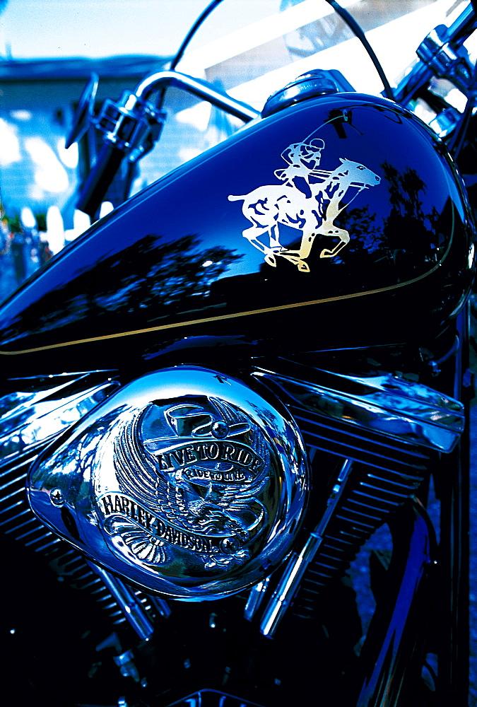 A Polo Player Customized Harley-Davidson, San Francisco, California, Usa