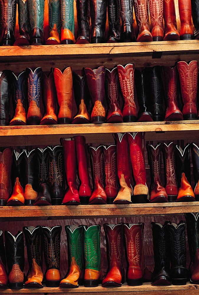 Cow-Boy Boots, Fort-Worth Stockyards, Texas, Usa
