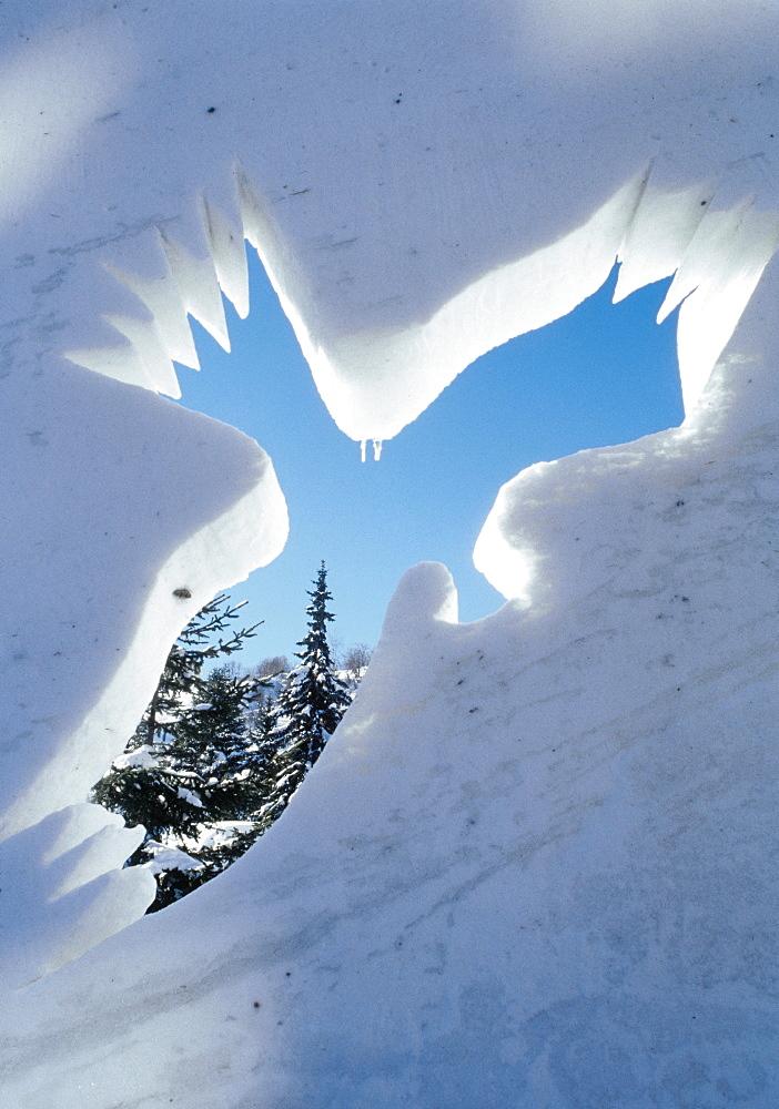 France, Alps, Valloire Ice Sculpture - 700-7178