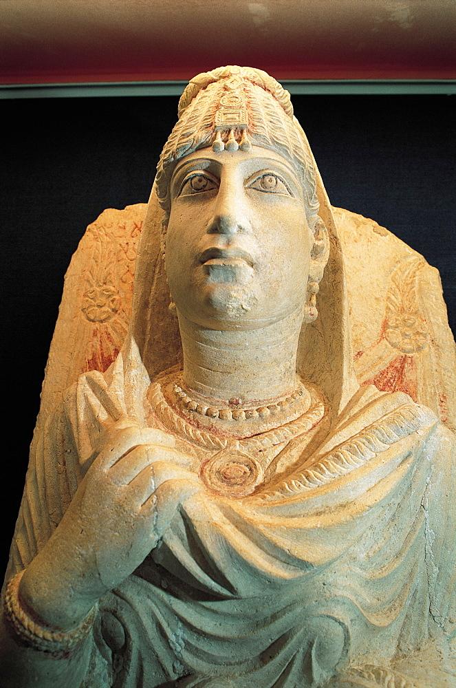 Syria, Palmyra, Antique Roman Statue For A Dead