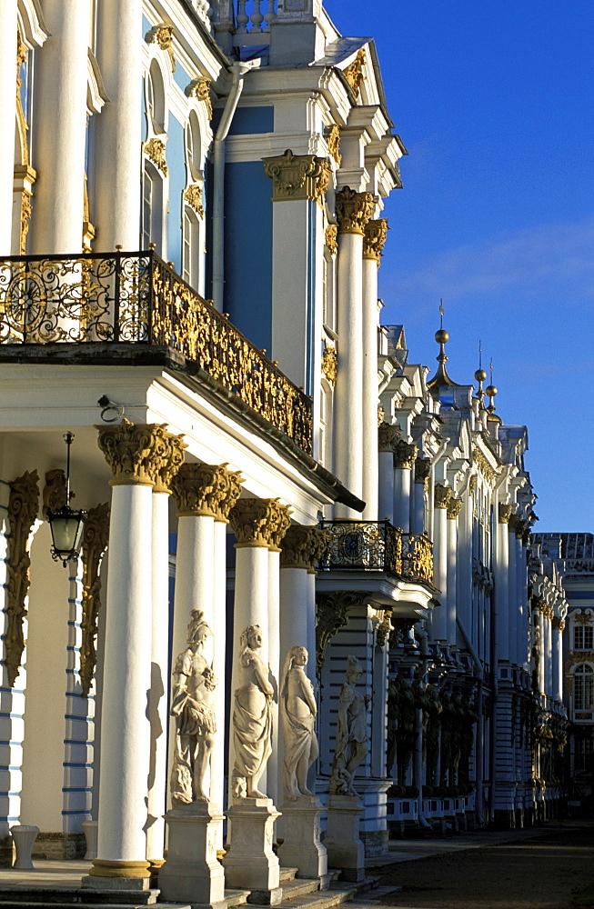 Russia, Saint Petersburg, Tsarskoie Selo (Pushkin) Catherine Ii Castle & Park, Fa