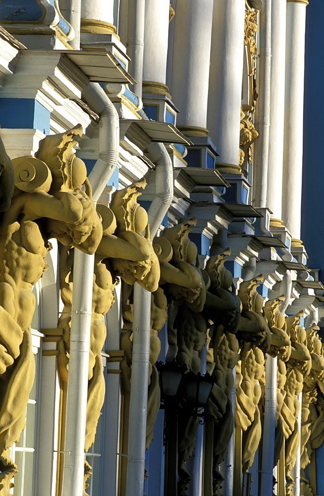 Russia, Saint Petersburg, Tsarskoie Selo (Pushkin) Kathryn Ii Castle & Park, Fa