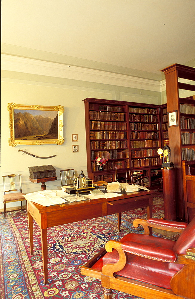 Russia, St-Petersburg, Pushkin Apartment Now A Museum Dedicated To The Writer, The Library