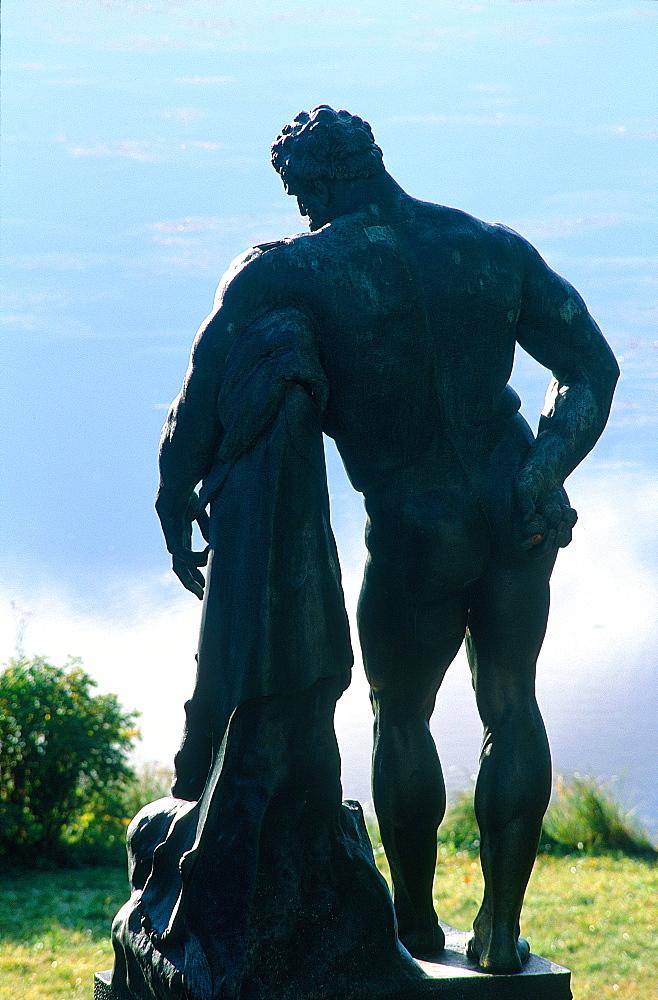 Russia, St-Petersburg, Tsarskoie Selo (Pushkin), Catherine Palace Park, Bronze Statue Of Hercules