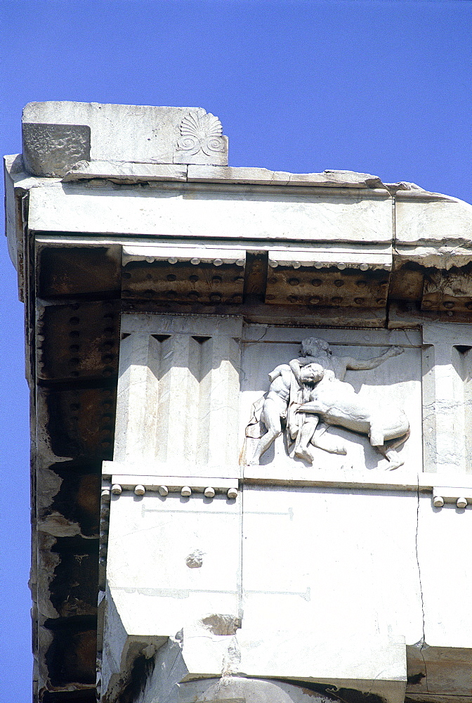 Greece, At Hens, Acropolis Hill, The Parthenon Temple Frieze