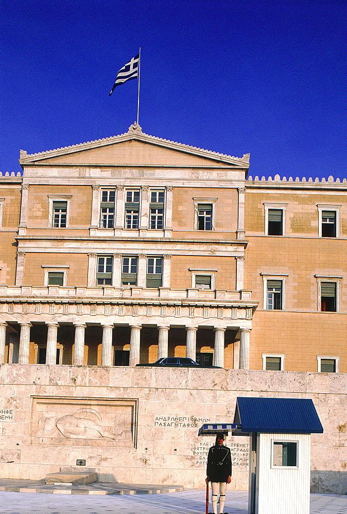 Greece, At Hens, The Royal Palace, Guard Monitoring