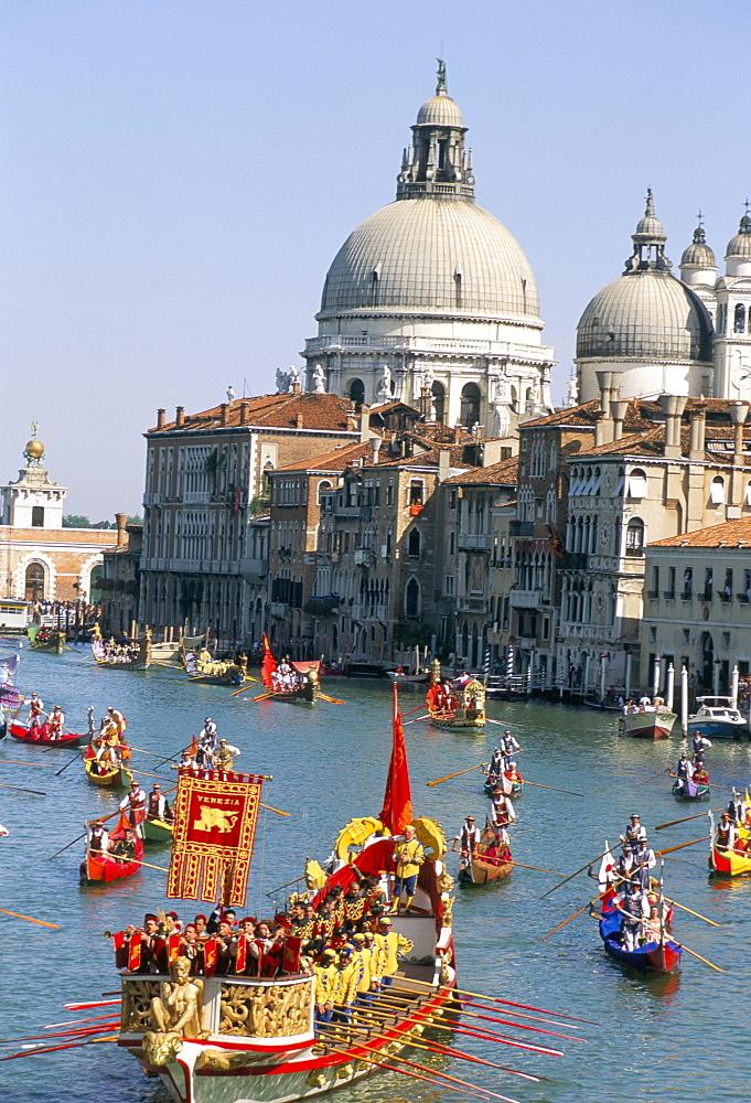 Regatta on the Grand Canal, Venice, UNESCO World Heritage Site, Veneto, Italy, Europe