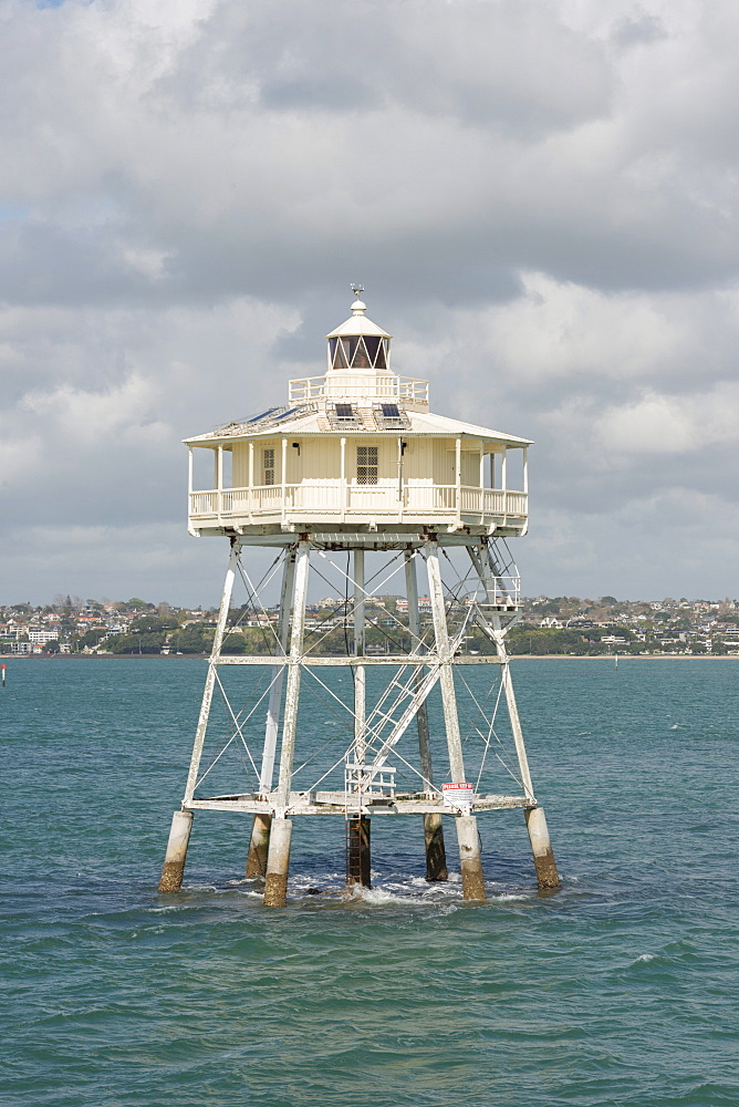 Bean Rock Lighthouse in the Waitemata Harbour, Auckland, North Island, New Zealand, Pacific