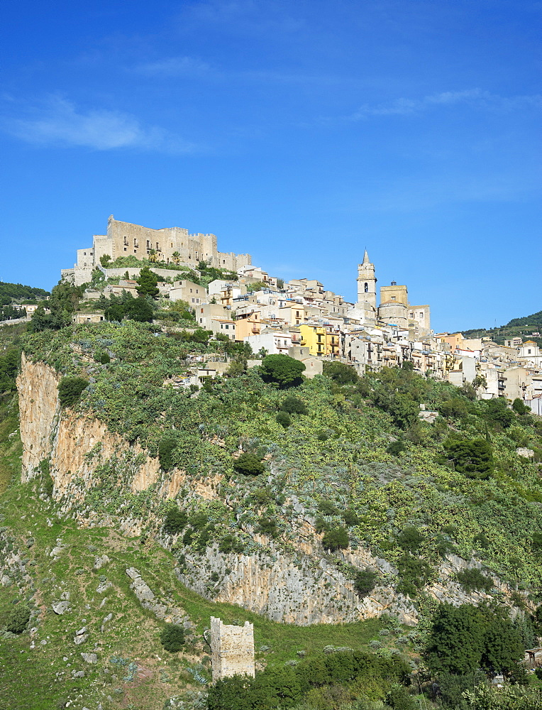 Caccamo Town, Caccamo, Sicily, Italy, Europe