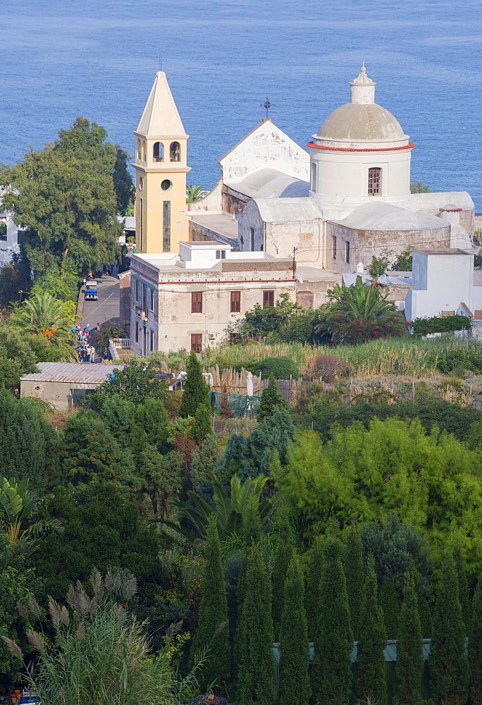 Town of Stromboli, Stromboli, Aeolian Islands, UNESCO World Heritage Site, Sicily, Italy, Mediterranean, Europe