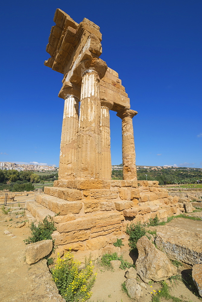 Temple of Castor, Valley of the Temples, Agrigento, UNESCO World Heritage Site, Sicily, Italy, Europe - 718-2136