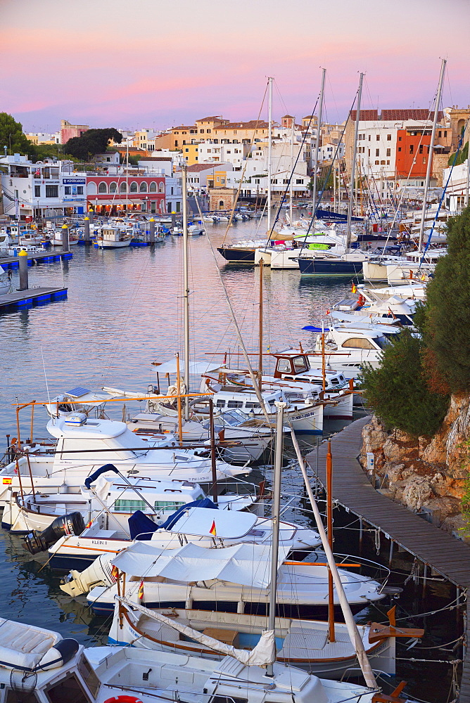 Historic old harbor, Ciutadella, Menorca, Balearic Islands, Spain, Mediterranean, Europe - 718-2232