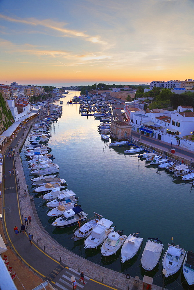Historic old harbor, Ciutadella, Menorca, Balearic Islands, Spain, Mediterranean, Europe - 718-2233