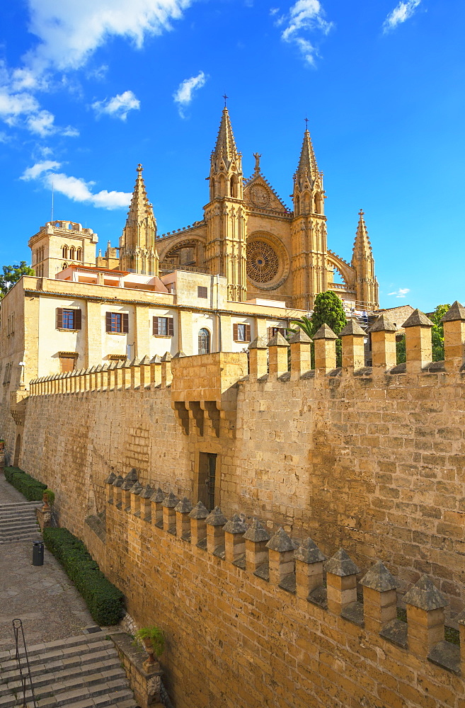 La Seu Cathedral, Palma de Mallorca, Mallorca (Majorca), Balearic Islands, Spain, Europe - 718-2285